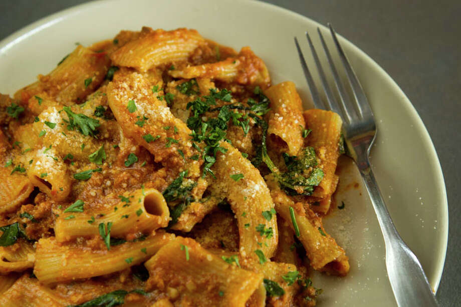 Rigatoni bolognese is served at Paulie's.  Photo: Brett Coomer, Houston Chronicle / © 2013 Houston Chronicle