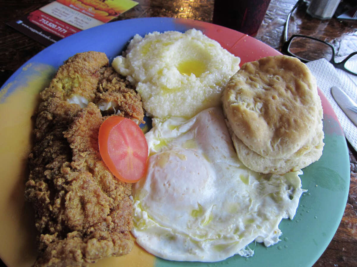F ried catfish, grits, eggs and a biscuit at Breakfast Klub.