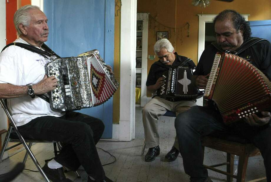 Bene Medina leads a group including Pedro Castañeda and Robert Armendariz at the Conjunto Heritage Taller. It is at the center of Conjunto music preservation in San Antonio and offers music classes on instruments including the accordion and the bajo sexto. Photo: Photos By Helen L. Montoya / Conexión