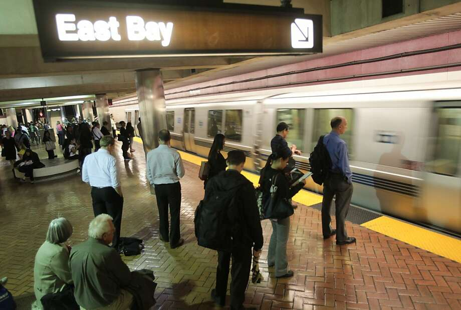 BART riders at the Montgomery Station experience less than normal congestion during the evening commute to the east bay on Thursday, June 14, 2012. The shut down of the transbay tube in the morning forced some commuters to drive instead. Photo: Mathew Sumner, Special To The Chronicle