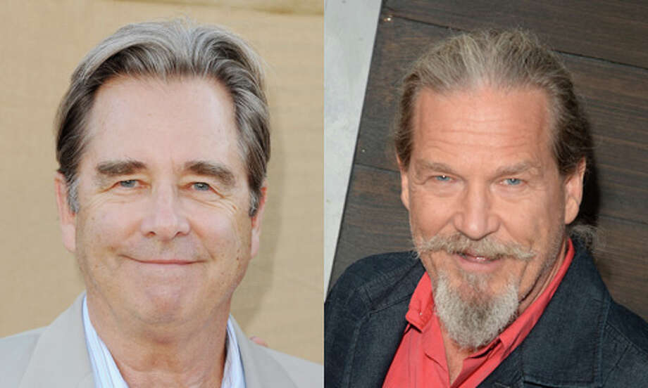 "Famous:Jeff Bridges (right). Famous for ""The Big Lebowski,"" ""The Last Picture Show,"" ""The Contender,"" ""True Grit"" and his Oscar win for ""Crazy Heart.""  Less famous: Beau Bridges.  Less famous for winning a Golden Globe for his performance in ""The Positively True Adventures of the Alleged Texas Cheerleader-Murdering Mom."" Photo: Getty Images"