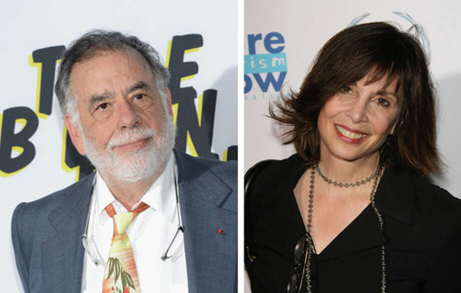 """Famous:Francis Ford Coppola. Famous for being the Godfather of current American directors, winning five Oscars for his work on """"The Godfather,"""" """"The Godfather: Part II,""""  and """"Patton.""""  Less Famous: Talia Shire.  Less famous for playing Adrian in the """"Rocky"""" movies and being the mother of Jason Schwartzman. Photo: Getty Images"""