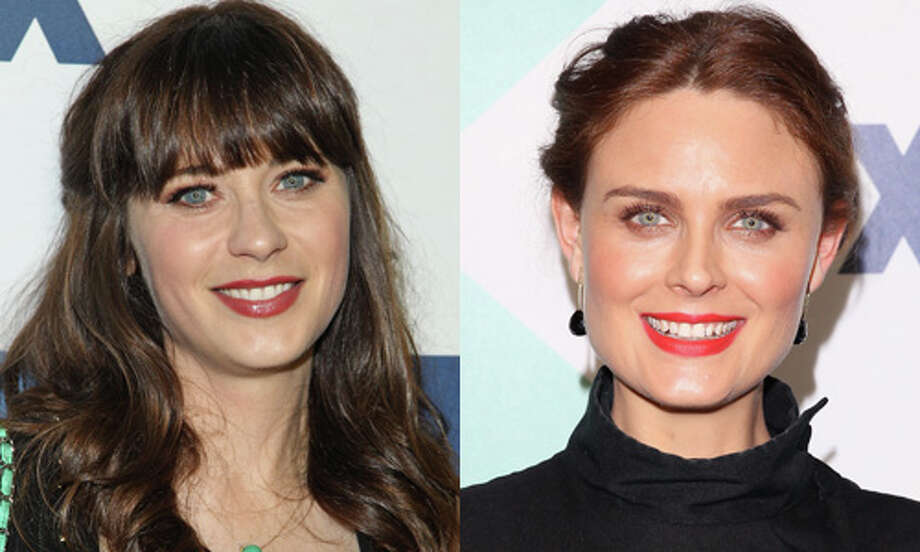 Famous:Zooey Deschanel.  Famous for her work in `Elf,' `(500) Days of Summer' and Fox's `New Girl.' She's also one half of indie band She & Him with M. Ward.  Less famous: Emily Deschanel.  Less famous for her own Fox show, `Bones.' Photo: Getty Images
