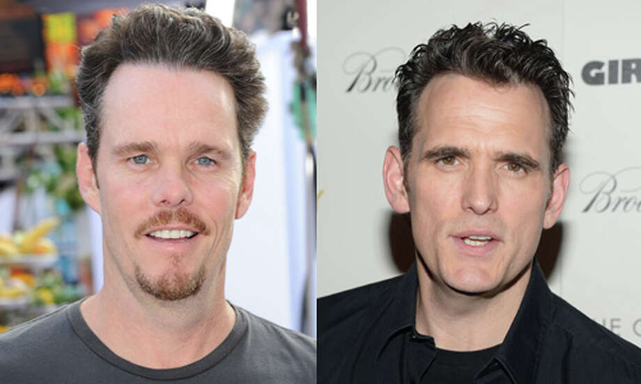 "Famous:Matt Dillon (right). Famous for ""Crash,"" ""Drugstore Cowboy"" and ""There's Something About Mary.""  Less famous: Kevin Dillon.  Less famous for playing Drama, the less-famous actor-brother of Vincent Chase, on ""Entourage."" Photo: Getty Images"