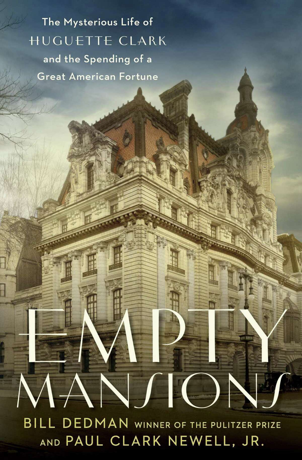 The cover of the book, Empty Mansions: The Mysterious Life of Huguette Clark and the Spending of a Great American Fortune by Bill Dedman and Paul Clark Newell, Jr.