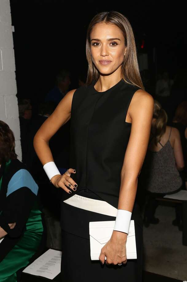 Actress Jessica Alba attends the Narciso Rodriguez Spring 2014 fashion show held at Sir Stage37 on September 10, 2013 in New York City.  (Photo by Astrid Stawiarz/Getty Images) Photo: Astrid Stawiarz, Getty Images