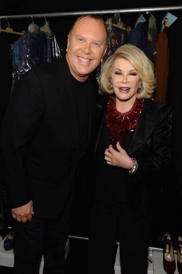 Designer Michael Kors (L) and Joan Rivers pose backstage at the Michael Kors fashion show during Mercedes-Benz Fashion Week Spring 2014 at The Theatre at Lincoln Center on September 11, 2013 in New York City.  (Photo by Dimitrios Kambouris/Getty Images for Michael Kors) Photo: Dimitrios Kambouris, Getty Images For Michael Kors