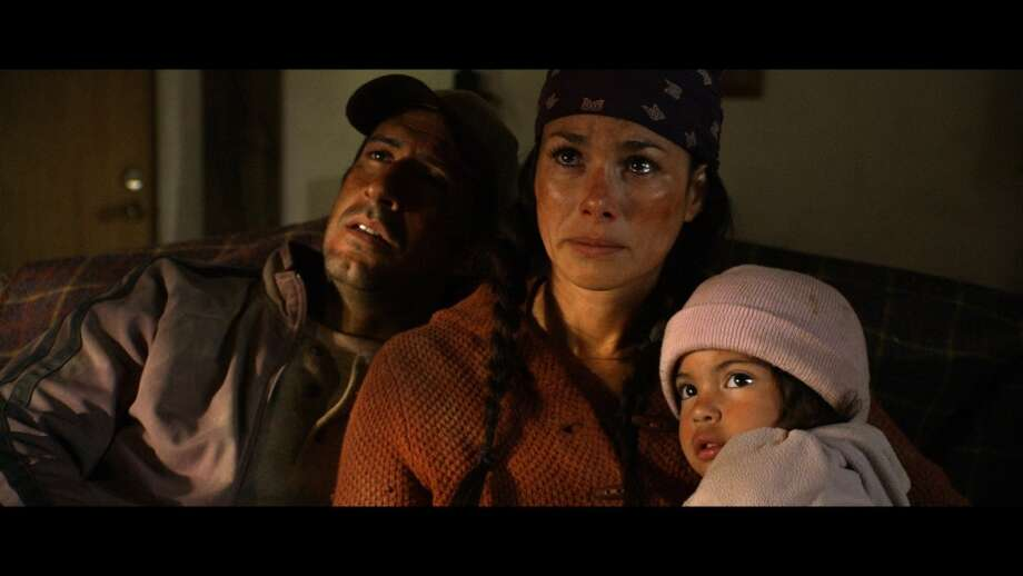 "A scene from ""Fighting for Freedom"":Angelina and her parents, Oscar and Maria Salazar, find refuge after being rescued from near-death by kindly rancher. (Loken Mann Productions)"