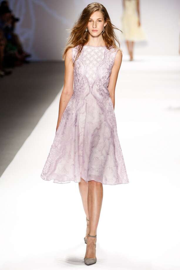 NEW YORK, NY - SEPTEMBER 05:  A model walks the runway at the Tadashi Shoji show during Spring 2014 Mercedes-Benz Fashion Week at The Stage at Lincoln Center on September 5, 2013 in New York City.  (Photo by Thomas Concordia/WireImage) Photo: Thomas Concordia, WireImage