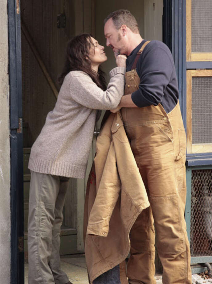 Some fans speculate this scene takes place in Ballard. Mitch Larsen (Michelle Forbes) and Stan Larsen (Brent Sexton) are the murdered girl's parents. Photo: Chris Large