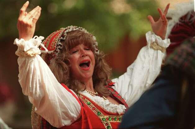 Ellen Horr during a dance scene, at the renaissance festival in Plantersville. Photo: Nicole Fruge / freelance