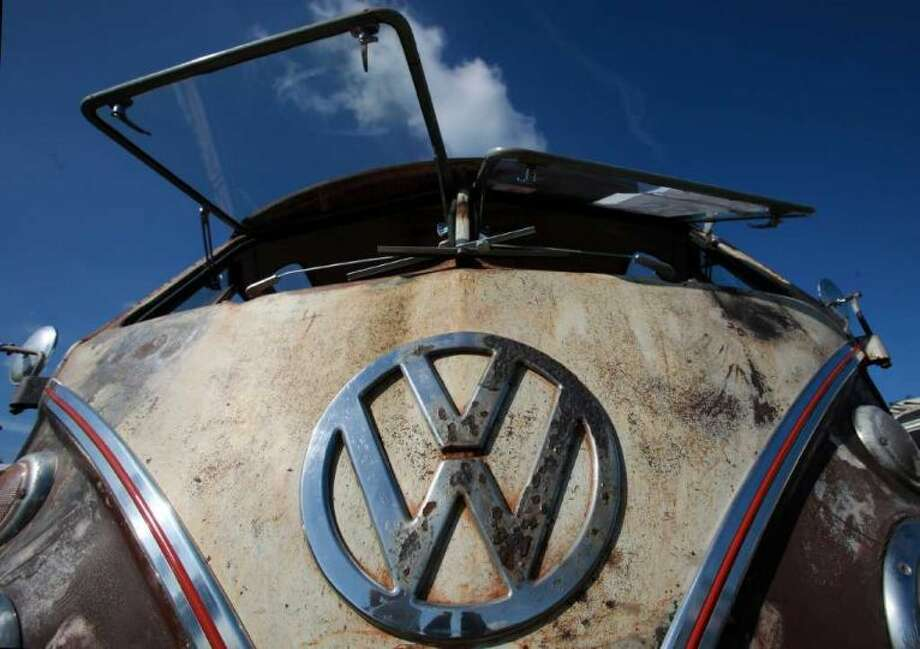 A Volkswagen van shows off its windshield at Vanfest  in Malvern Wells, England Sept. 13, 2009. Photo: Matt Cardy, Getty Images