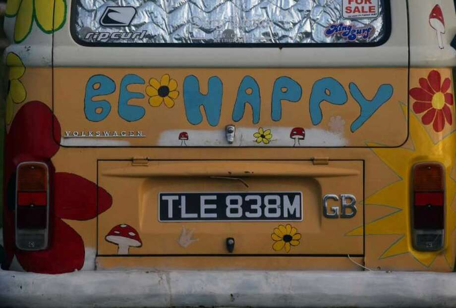 The back of the beer can decorated 1970s Type 2 Volkswagen campervan at the Final Fling VW Show on October 24, 2009 in Woolacombe, England. Photo: Matt Cardy, Getty Images
