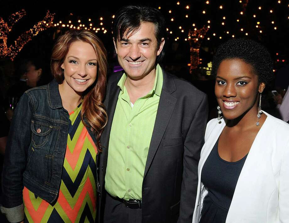 From left: Natalie Bomke, Philippe Schmit and Shannon Dillon at the Hotel Zaza's annual Spring Party Wednesday April 24, 2013.(Dave Rossman photo) Photo: Dave Rossman, For The Houston Chronicle / © 2013 Dave Rossman