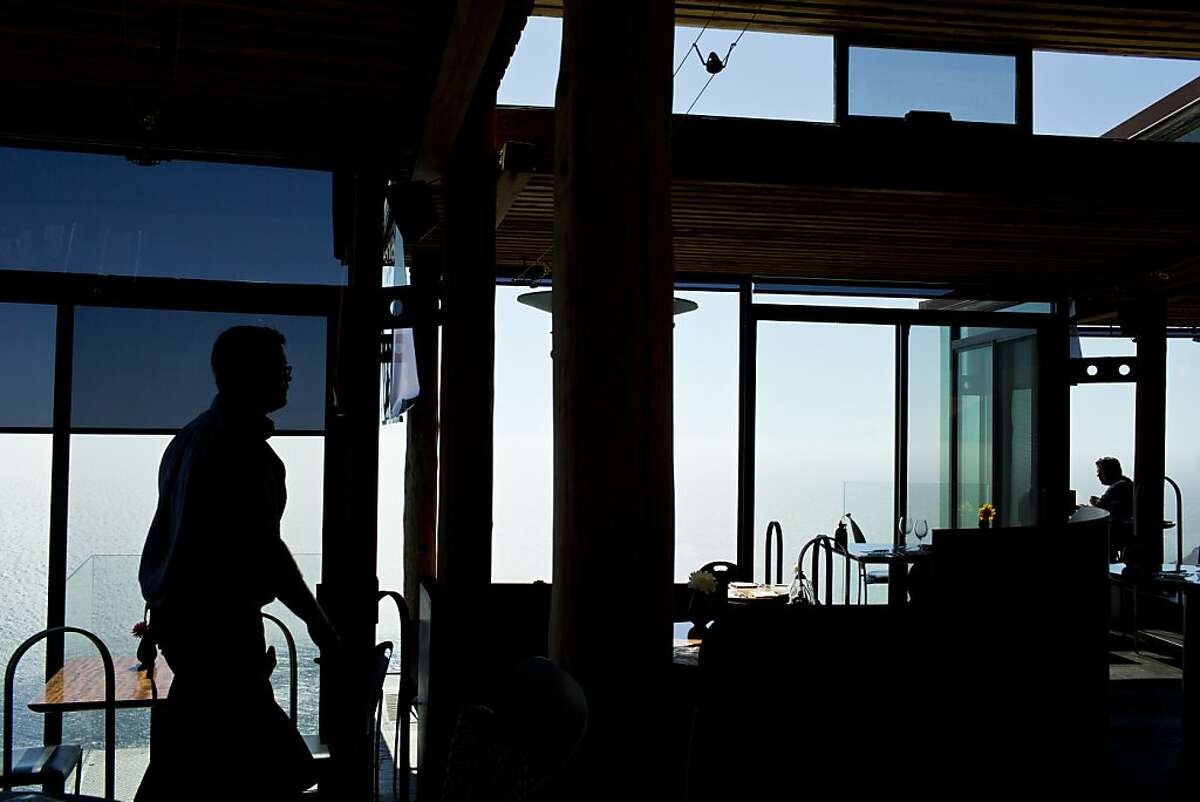 Diners inside Sierra Mar, which sits atop a cliff overlooking the Pacific in Big Sur, Calif., Thursday, September 5, 2013.