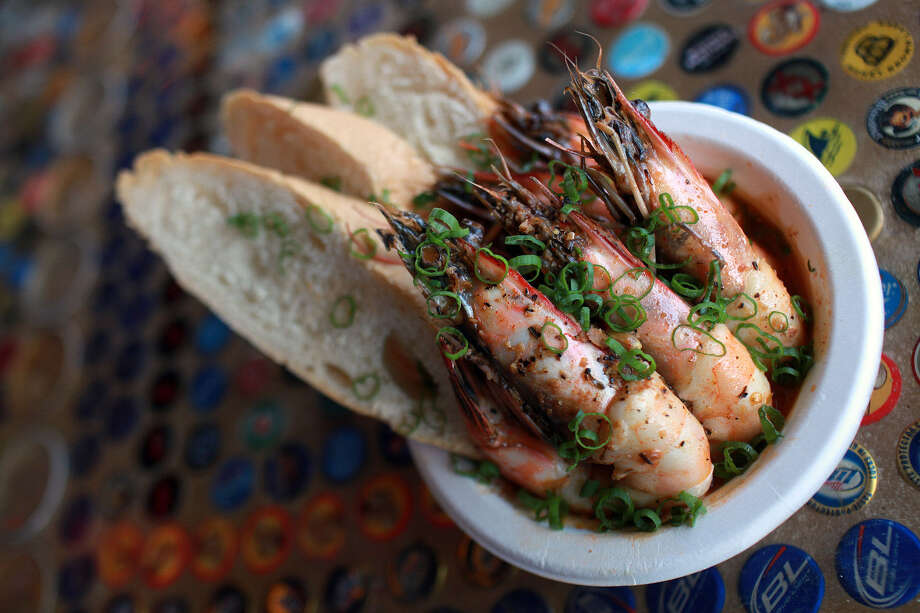 Barbecued shrimp is one of the favorites from Where Y'at Food Truck at 609 Alamo St. Photo: Express-News File Photo