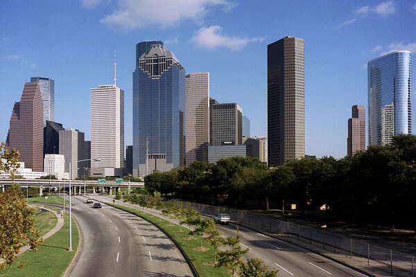 Houston skyline 2013