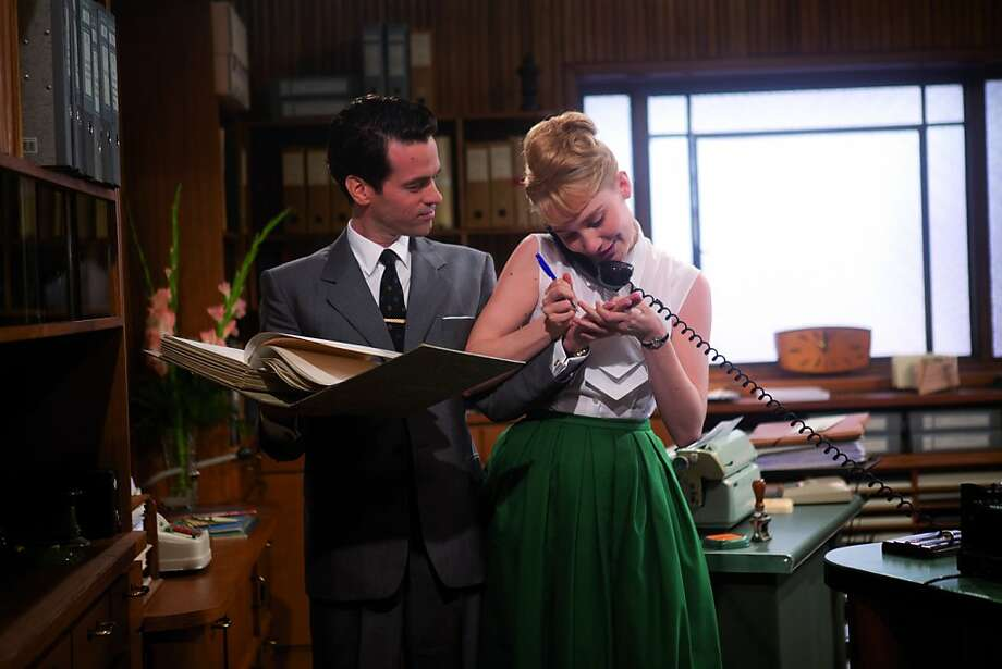 "Romain Duris is the taskmaster boss who runs an insurance office and Déborah François is the fast-typing secretary he hopes will win a speed-typing contest in the French comedy ""Populaire."" Photo: Jair Sfez, The Weinstein Company"