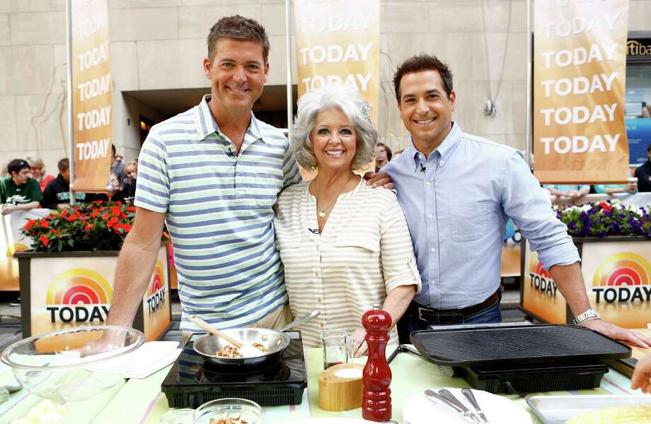 "Paula Deen and sons Jamie, left, and Bobby appeared on the ""Today"" show before her career took a nosedive. The three will be in Houston this weekend. Photo: Peter Kramer/NBC, Contributor / 2013 NBCUniversal Media, LLC."