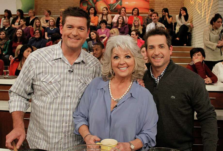 Paula Deen and her sons Bobby Deen and Jamie Deen appeared on 'The Chew,' in 2012. Photo: Lou Rocco/ABC, Contributor / Disney ABC Television Group