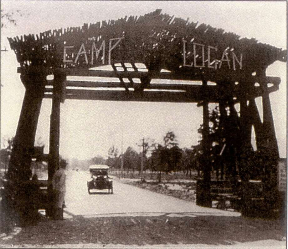 This 1917 show the entrance to Camp Logan, which is now the site of Memorial Park.