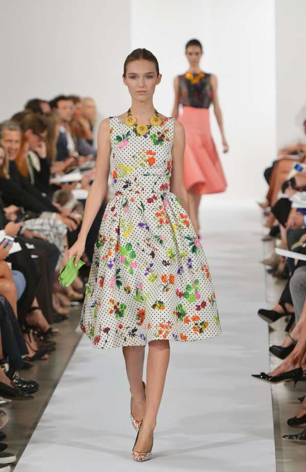 A model walks the runway at the Oscar De La Renta fashion show during Mercedes-Benz Fashion Week Spring 2014 on September 10, 2013 in New York City. Photo: Slaven Vlasic, Getty Images