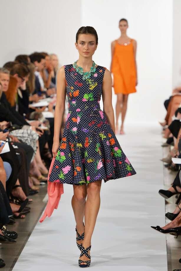 The runway at the Oscar De La Renta fashion show . Photo: Slaven Vlasic, Getty Images