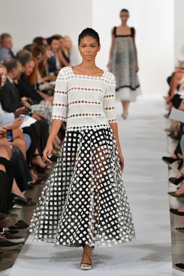 Model Chanel Iman walks the runway at the Oscar De La Renta fashion show during Mercedes-Benz Fashion Week Spring 2014 on September 10, 2013 in New York City.  (Photo by Slaven Vlasic/Getty Images) Photo: Slaven Vlasic, Getty Images