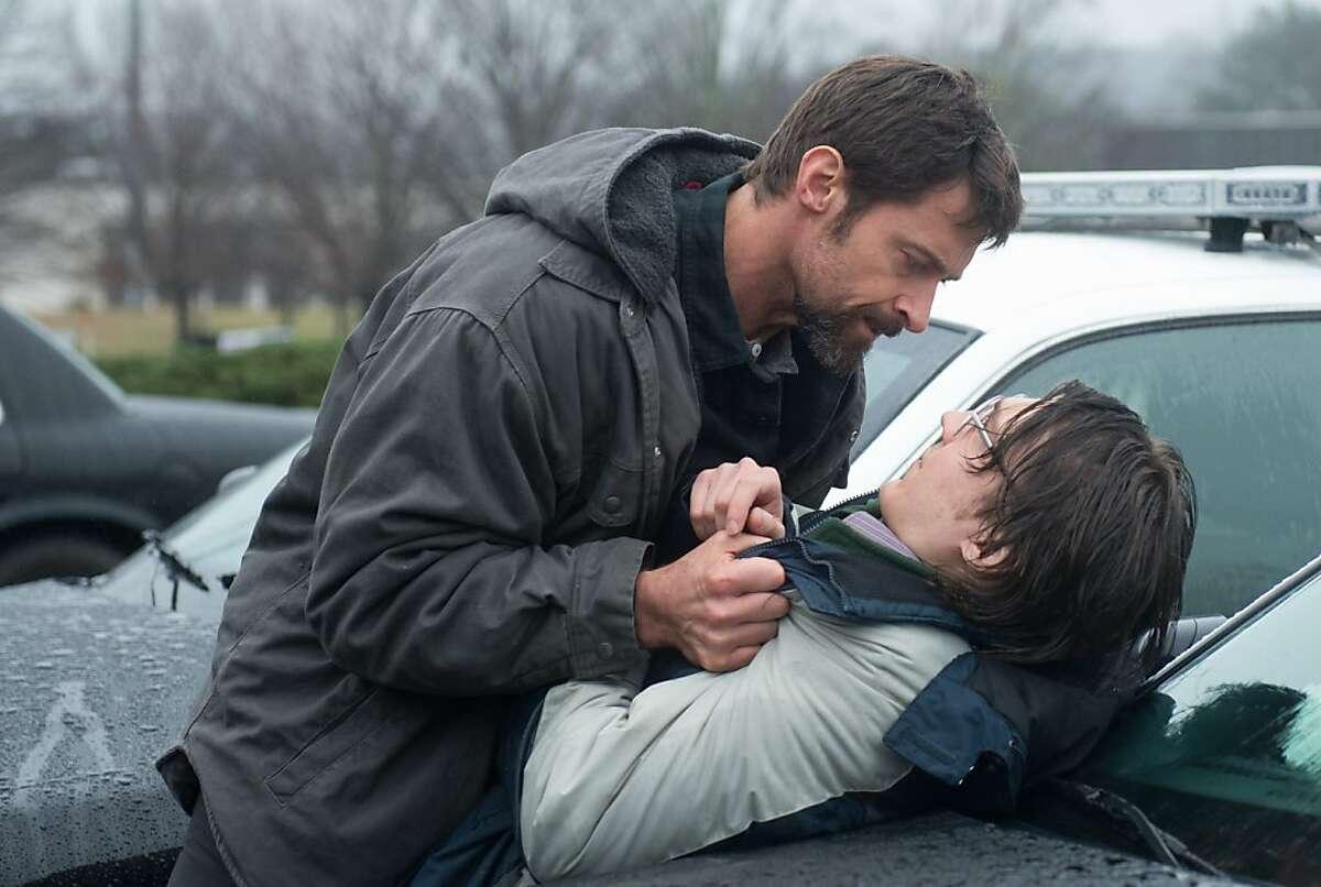 """Alex Jones-PAUL DANO, Keller Dover-HUGH JACKMAN in, """"Prisoners."""""""