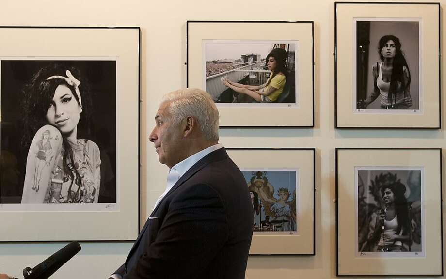 Mitch Winehouse discusses his daughter, the late British soul singer Amy Winehouse, at the Proud art gallery in London. Winehouse died two years ago. Photo: Alastair Grant, Associated Press