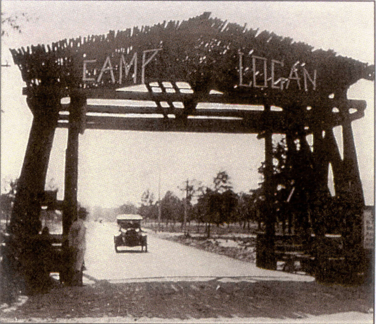 Camp Logan, a World War I training camp, could house about 45,000 men.