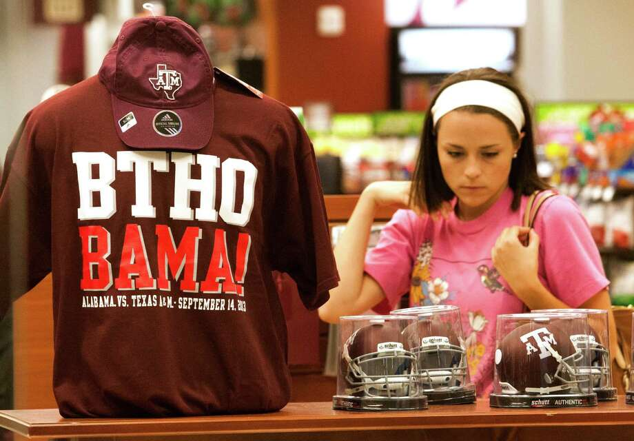 You could buy really nice hoodies for about 2,000 of your closest fellow Aggies.  Photo: J. Patric Schneider, For The Chronicle / © 2013 Houston Chronicle