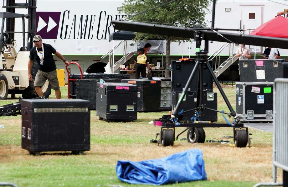 ESPN Gamday sets up at Texas A&M University campus on Wednesday, Sept. 11, 2013, in College Station.  Gameday will be airing their show live from campus on Saturday morning, and the Aggies will face-off against Alabama starting at 2:30 p.m. at Kyle Field. Photo: J. Patric Schneider, For The Chronicle / © 2013 Houston Chronicle