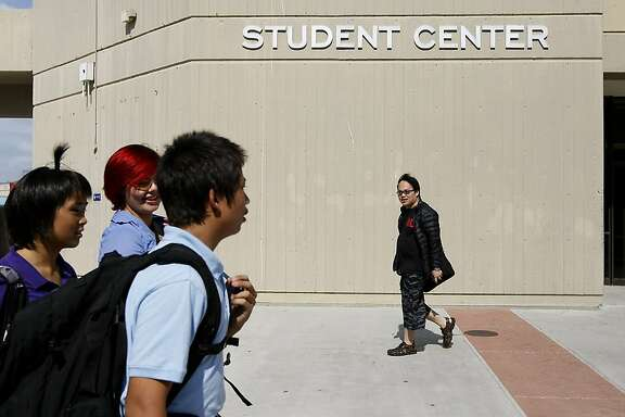 Students are seen on campus at the College of Alameda in Alameda, CA Wednesday September 11, 2013.