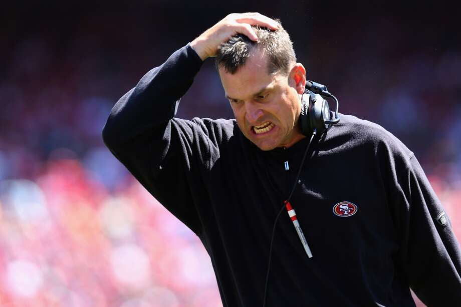 """Jim Harbaugh ... just in generalSeahawks fans find him whiny, brash, dismissive, overreactive, mean. He often seems to talk before he thinks, and has a knack for making noise in the national sports media. In July, long after his team's loss in the Super Bowl, Harbaugh threw a jab at Seattle and its recent PED problems by suggesting that the Seahawks cheat. ''We play by the rules,"""" he said. ''You want to be above reproach, especially when you're good, because you don't want people to come back and say, 'They're winning because they're cheating.''' We already mentioned Richard Sherman's reaction. His fellow starting cornerback, Brandon Browner, responded by saying he'd like to put his hands around Harbaugh's neck. Wide receiver Golden Tate said he'd give Harbaugh the ''Sean Lee treatment,'' referring to Tate's vicious hit on the Dallas linebacker in 2012. And guess what happened afterward? Harbaugh signed alleged PED user Eric Wright. Seahawks fans immediately cried: ''Hypocrite!'' Photo: Jeff Gross, Getty Images"""