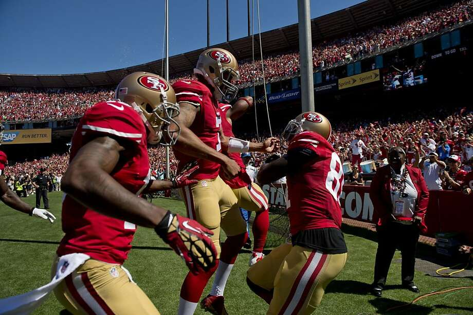 Green Bay couldn't contain Anquan Boldin (right), Colin Kaepernick (center) and the 49ers, but Seattle will try. Photo: Jose Luis Villegas, McClatchy-Tribune News Service