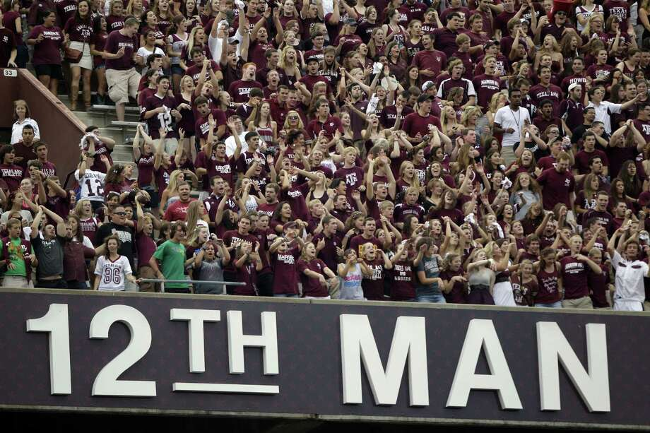 "Texas A&M says it is committed to the tradition of the ""12th Man"" by keeping students in their seats in the stands. Photo: Associated Press / File Photo"