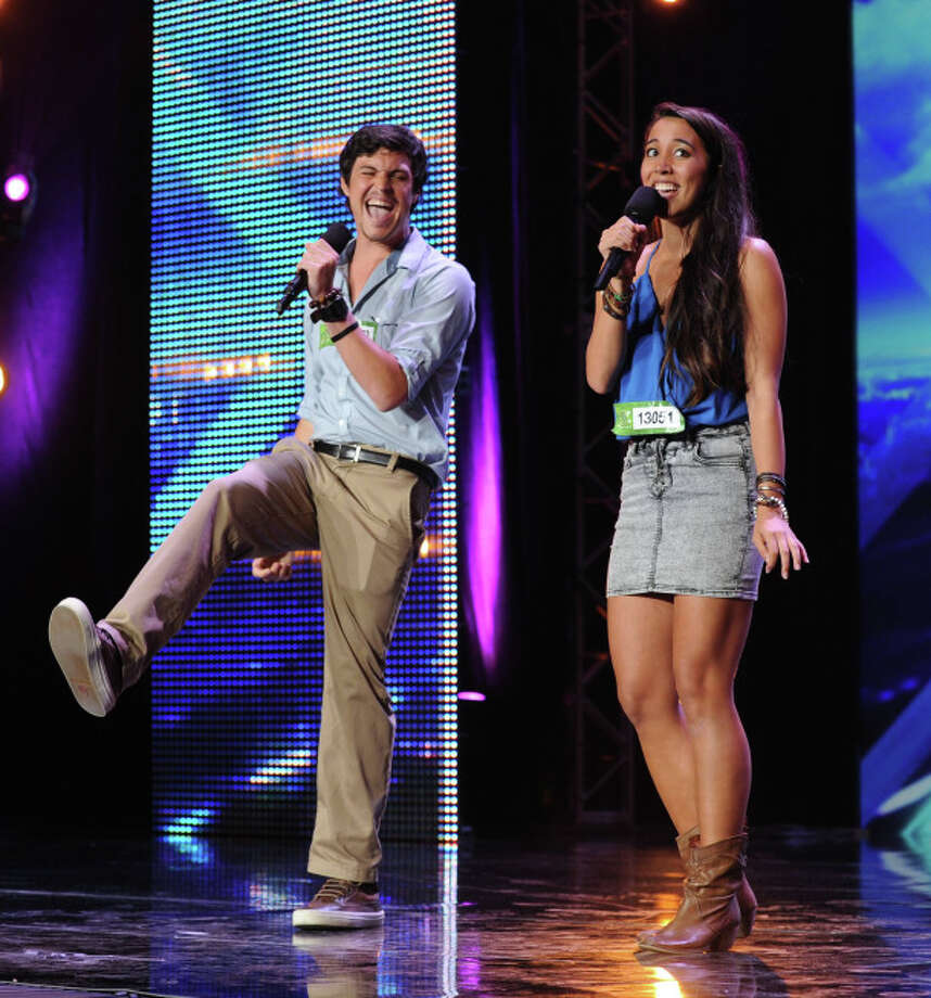 FACTOR: Contestants Alex and Sierra perform in front of the Judges on THE X FACTOR airing Wednesday, Sep. 11 (8:00-9:00 PM ET/PT on FOX. CR: Ray Mickshaw / FOX. © Copyright 2013 / FOX.