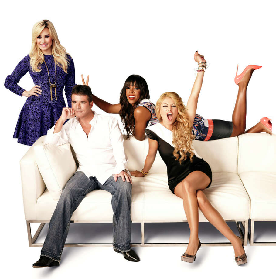 THE X FACTOR: L-R: Demi Lovato, Simon Cowell, Kelly Rowland and Paulina Rubio on THE X FACTOR. Season three of THE X FACTOR premieres Wednesday, Sept. 11 (8:00-9:00 PM ET/PT) and Thursday, Sept. 12 (8:00-10:00 PM ET/PT) then airs Wednesday, Sept. 18 (8:00-10:00 PM ET/PT) and Thursday, Sept. 19 (8:00-9:00 PM ET/PT.)  CR: Nino Munoz / FOX