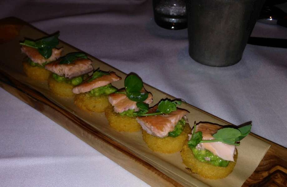 Trout on potato cakes ($14.95)