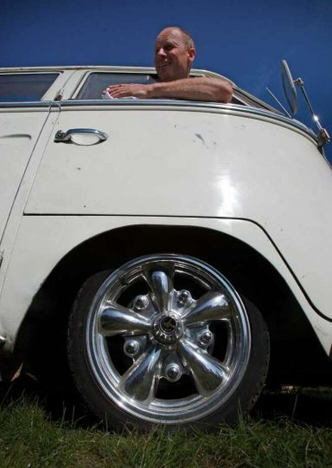 Colin Pace polishes the outside of his 1966 Volkswagen van at the 2009 Vanfest at the Three Counties Showground on September 13, 2009 in Malvern Wells, England. Photo: Matt Cardy, Getty Images