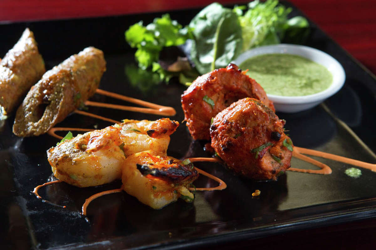 Great W'Kana Cuisine: Indian Dish: appetizer plate with lamb sheekh kebab, Peshawari chicken tikka and shrimp Entree price: $$ Where: 11720 W. Airport, Stafford Phone: 832-886-4291