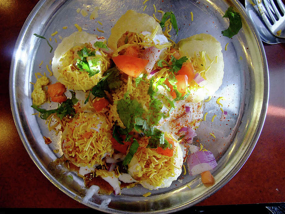 54.  Shri Balaji Bhavan. Cuisine: Indian Dish: dahi poori Entree price range: $ Where: 5655 Hillcroft Phone: 713-783-1126 Read Alison Cook's review of Shri Balaji Bhavan. Photo: Alison Cook, Houston Chronicle
