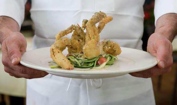 58. Ciao Bello Cuisine: Italian Dish: Soft Shell Crab Adriatico Entree price range: $$$ Where: 5161 San Felipe Phone: 713-960-0333 Website: ciaobellohouston.com Read Alison Cook's review of Ciao Bello. Photo: Billy Smith II, Houston Chronicle / Houston Chronicle
