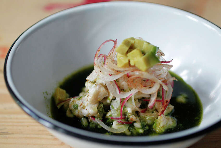 65. La Fisheria Cuisine: Mexican, Tex-Mex Dish: Ceviche Verde Entree price range: $$-$$$ Where: 4705 Inker Phone: 713-802-1712 Website: lafisheria.us Read Alison Cook's review of La Fisheria. Photo: Mayra Beltran, Houston Chronicle / © 2012 Houston Chronicle