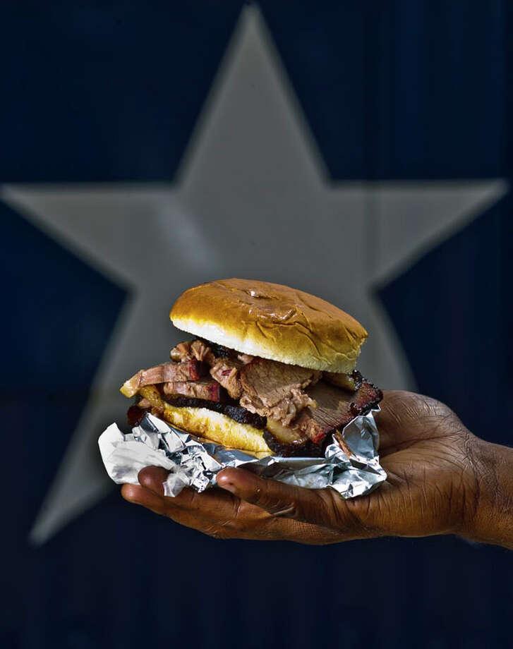 76. Brooks Place BBQDish: sliced beef sandwichEntree price range: $Where: 18020 FM 529, CypressPhone: 832-893-1682Website: brooksplacebbq.comRead Alison Cook's review of Brooks Place BBQ. Photo: Nick De La Torre, Houston Chronicle / © 2013  Houston Chronicle