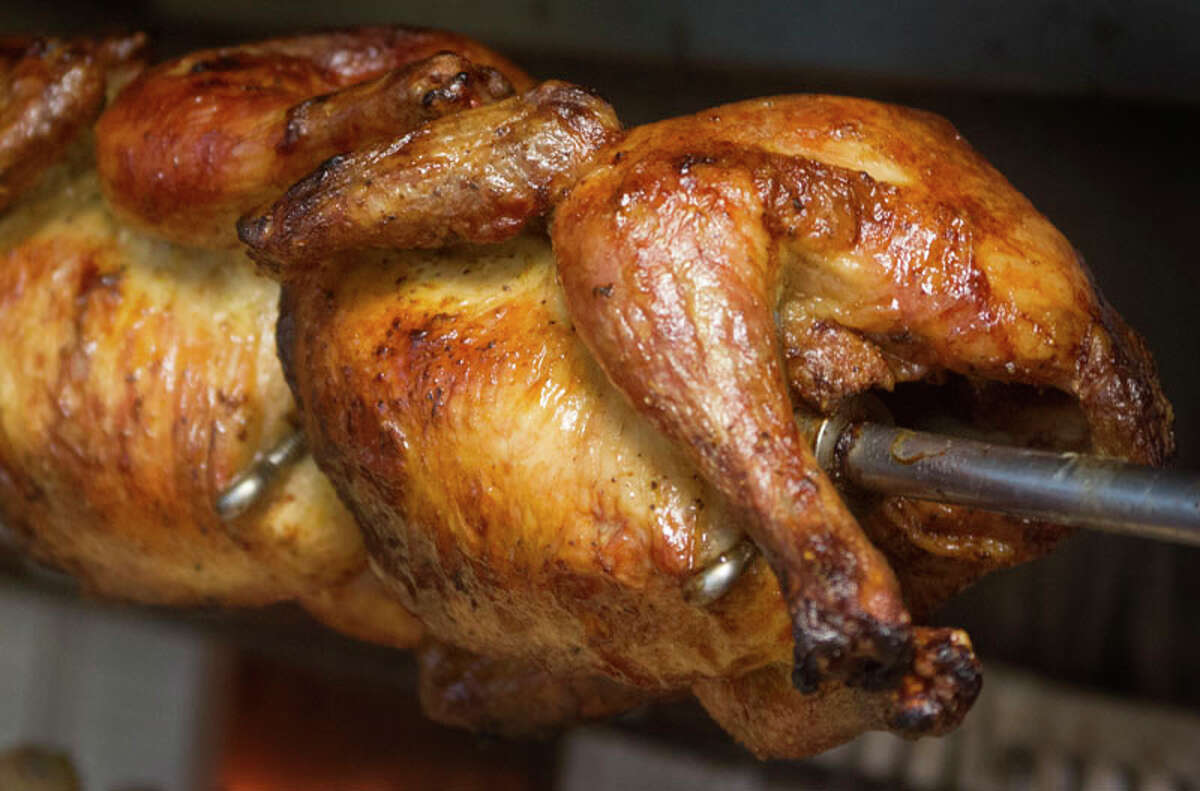 Rotisserie chicken at Pollo Bravo
