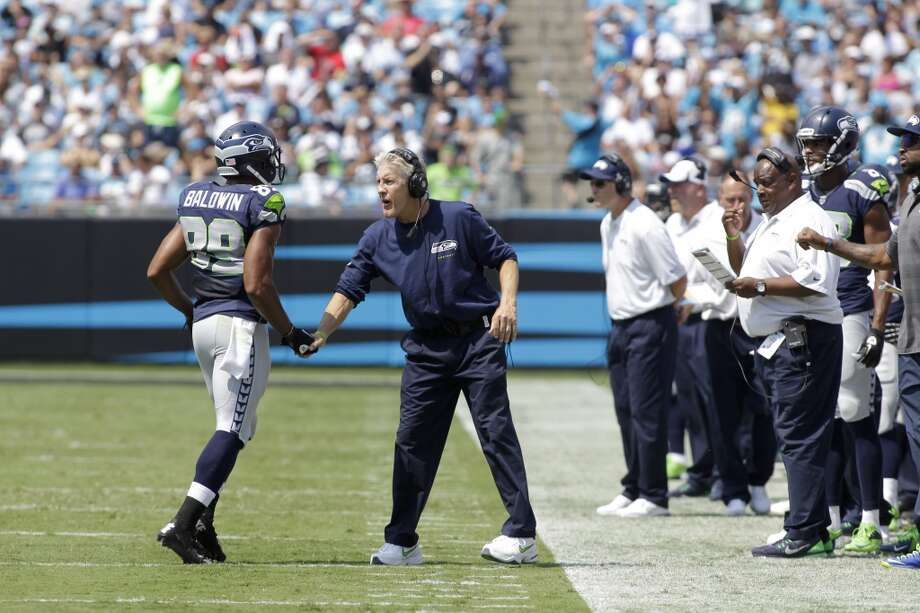 The groovy, looney Seahawks — Coach Pete Carroll has gone all Marin County circa 1975 on his team. Players have been introduced to yoga, meditation, analysis and sleep patterns. Yoga, because it was so popular last year, is now mandatory.   What's next: scream therapy and car keys dropped in a fish bowl? Soon Ram Dass will coach special teams and Wavy Gravy will peacefully tutor linebackers. Photo: Bob Leverone, Associated Press