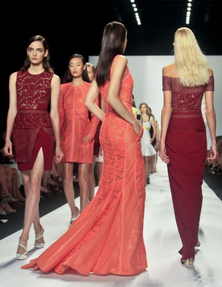 Fashion from the Spring 2014 collection of J. Mendel is modeled on Wednesday, Sept. 11, 2013 in New York. Photo: Bebeto Matthews, Associated Press