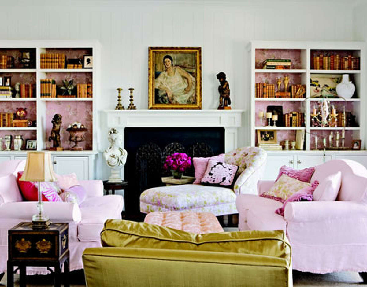 Beautify Bookshelves Better your bookshelves. If you're hesitant about wallpapering an entire room, consider covering the backing of a bookcase. It'll add a subtle pop of pattern for a whole lot less money.-Sara Gilbane, Sara Gilbane Interiors Reprinted with Permission of Hearst Communications, Inc. Originally Published: 15 Ways to Decorate Your Home - on the Cheap!
